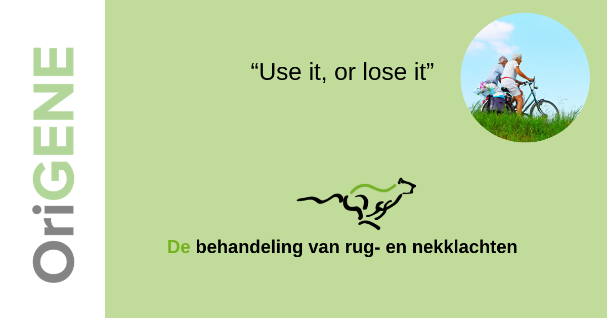 """Use it, or lose it"""