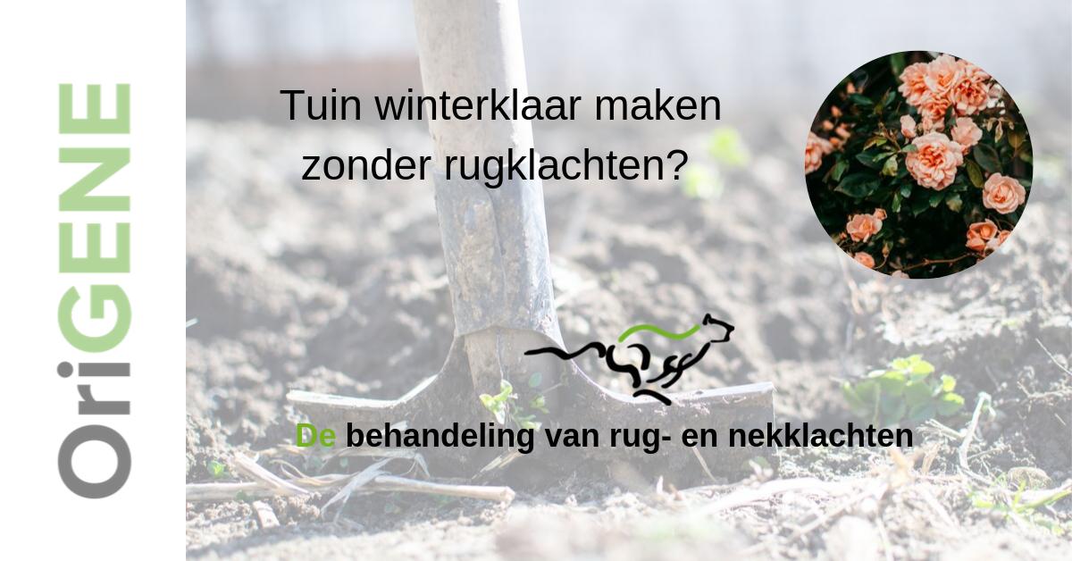 Tuin winterklaar maken zonder rugklachten?