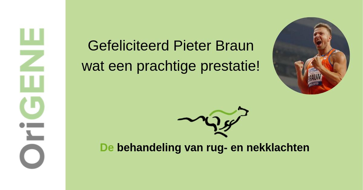 Gefeliciteerd Pieter Braun!