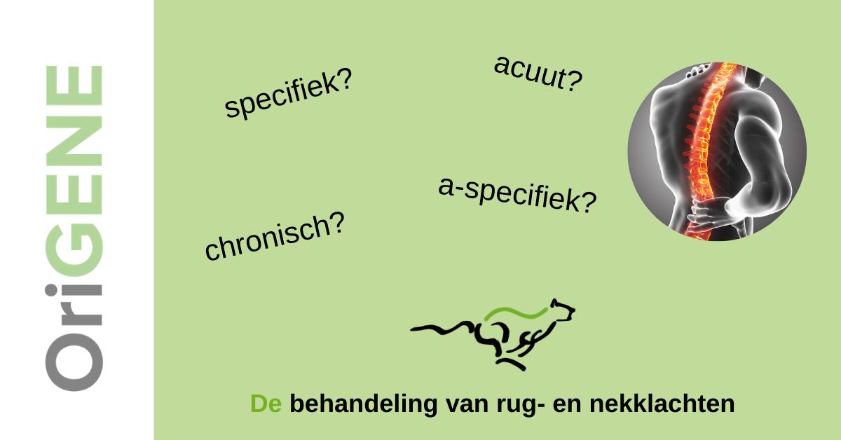 A-specifiek, acuut, specifiek, chronisch?